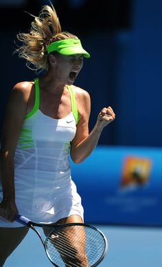 Sharapova. love the intensity. love the dress