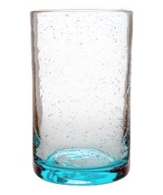 Blue Bubble Glass Tumbler