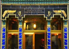 Art Deco Egyptian Revival architecture, New York City.