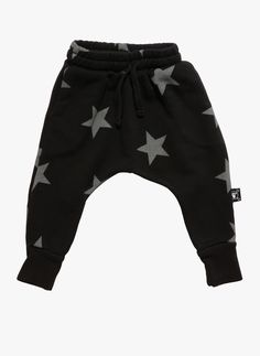Nununu Star Baggy French Terry Pants in Black - Only size 8-9