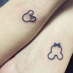 #tattoo#coupletattoo  땡땡이 리본. 포인트.