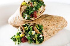 Kale and Mushroom Wrap | GiadaWeekly.com