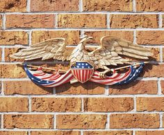 "Made from rust-free recycled aluminum.Weather resistant painted finish.1 Year Manufacturers Warranty.Made in the USA.Free Standard Shipping!Eagle Dimensions: 24"" W x 7.5"" H Price $45.99"
