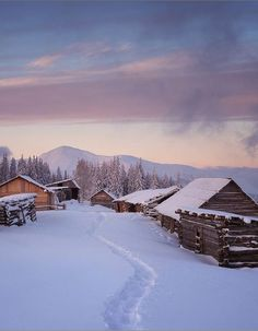 Winter in Ivano-Frankivsk region - Ukraine                              …