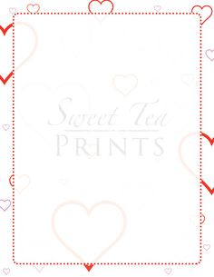 Valentine's Day Flyer / Template / Printable by SweetTeaPrints. Great for Valentine's Day games, love letter, newsletter, and so much more!