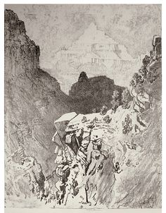 The PRINT OF THE DAY!! Sunday, July 24, 2016 is by American printmaker  Joseph Pennell (1857-1926). The Temple (Grand Canyon of the Colorado, Arizona series); 1912
