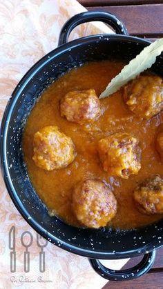Albóndigas en salsa española - Las cosas de mi cocina