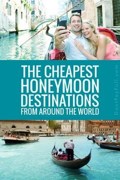 The cheapest honeymoon destinations from around the world. Tips and ideas for planning the honeymoon of your dreams – what to pack, fun things to do, how to budget. Find beautiful destinations to enjoy on your first trip as a married couple. Cheap Honeymoon Destinations, Honeymoon On A Budget, Honeymoon Fund, Honeymoon Planning, Honeymoon Places, Honeymoon Packages, Travel Destinations, Honeymoon Ideas, Wedding Destinations