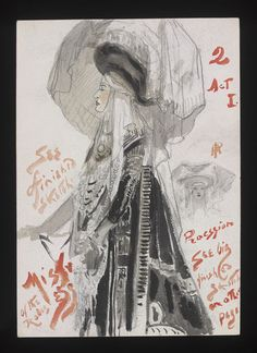 Princess Ida (Mistress of the Robes). Princess Theatre. Costume design by Percy Anderson. 1922