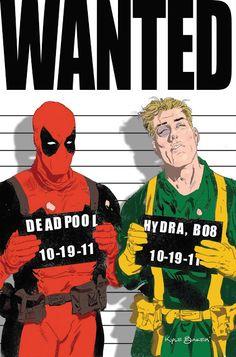 Deadpool and Bob Hydra by Kyle Baker *