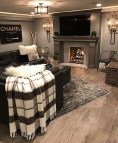 Now This Is How A Basement Should Look. Warm Cozy And Entertaining. Love The