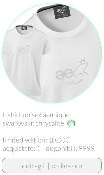 T-shirt ae unique unisex Swarovski color verde acqua buy www.aeunique.com
