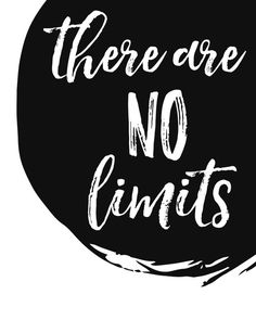 There Are No Limits / Motivational Print / Gift for Athlete / Entrepreneur Gift…