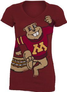 0af4ca8d0 NCAA Minnesota Golden Gophers Gigantor Ladies V-Neck Tee Shirt by MY.   11.82.