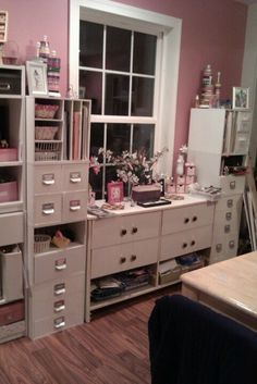 #papercraft #craftroom. My scrap room