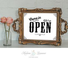 OPEN signs printable sign come in we're open instant download signs printable signage art prints DIY signs retro wall art prints printables