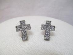 Crystal Cross Earrings   Fashion Faith