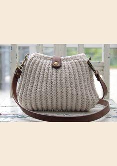 Rib stitch - DK - Hæklede tasker, kurve & bakker - Go Handmade