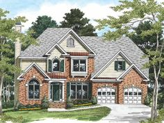 New American House Plan with 2381 Square Feet and 5 Bedrooms(s) from Dream Home Source   House Plan Code DHSW09339