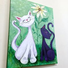 It's Great To Be A Cat acrylic painting on canvas by Threadmill