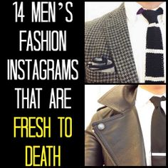 Whether you're into suits, streetwear or a mix of both, these accounts have something for everyone. Cry Like A Baby, Instagram Accounts To Follow, Mens Attire, African American Men, Cool Style, My Style, Well Dressed Men, Types Of Fashion Styles, Instagram Fashion