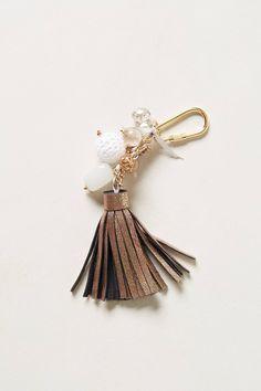 Leather Tassel Keychain.