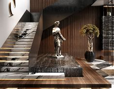 Home Interior Pictures Home Stairs Design, Interior Stairs, Modern House Design, Modern Interior Design, Apartments In Dubai, Dubai Houses, Balustrades, Modern Basement, House Stairs