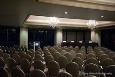 Center Club's Symphony Ballroom set theater style.  Photo courtesy of Doug Gifford Photography.
