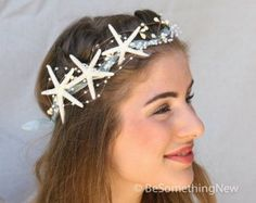 Mermaid Party Starfish Crown, Beach Wedding Headpiece, Mermaid Costume Headband, Wedding Headpiece, Halloween Costume