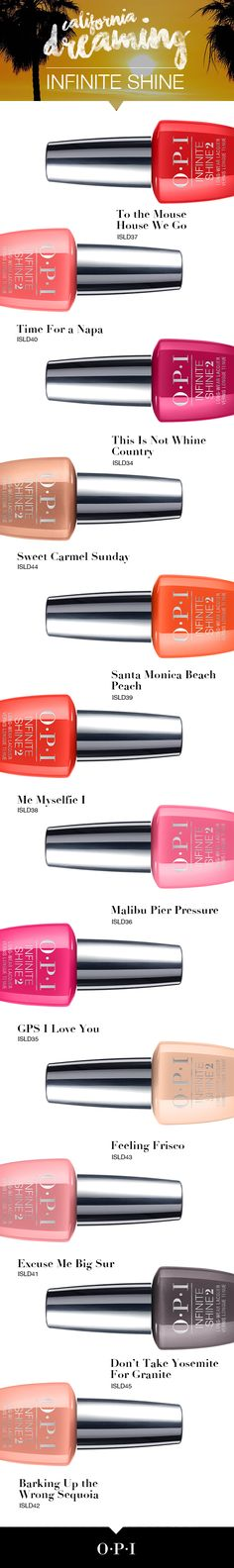The OPI California Dreaming collection is the perfect summer palate. Try it today!