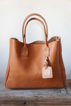 Leather Tote Milled Bag by Billykirk