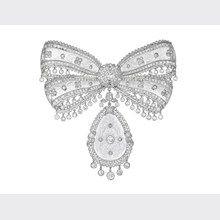 Royal diamond brooch
