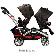 Contours® Optima™ Tandem Stroller - We call this the best anti-Fighting Stroller! Check out all the different ways you can face your kiddos. Remember twins don't stay babies they grow into toddlers and they will fight like any siblings do...lol...unless you're one of the lucky ones.