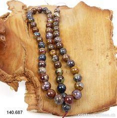 Rang Piétersite couleurs mélangées 8 mm / 40 cm, env. 50 boules Bracelet Wrap, Beaded Necklace, Creative, Rings, Jewelry, Carnelian, Crystals, Switzerland, Bijoux