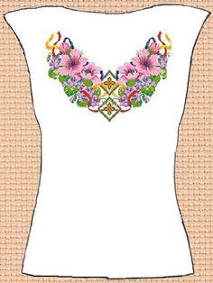 Заготовка для вишивки жіночої сорочки без рукавів (СЖБР-137)