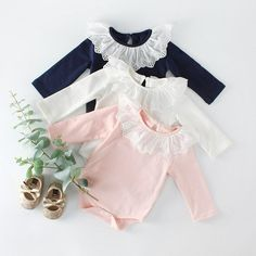 Baby Boy Girl O-Neck Long Sleeve Pure Color Climbing Clothes Bear Surfer Jumpsuit