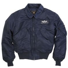 Alpha Industries MA2 CWU 45/P Flight Jacket Replica Blue www.BenNevisClothing.com