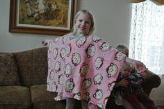 Serape made of fleece, Josefina unit study