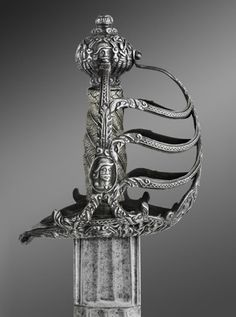1650 English Broadsword belonging to Oliver Cromwell (detail) at the Philadelphia Museum of Art - Found via OMG that Artifact!