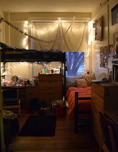 1000 images about where ya gonna live on pinterest for Cool dorm room setups