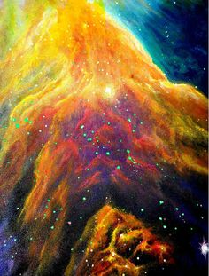 Orion Nebula Painting | Geek Decor | Geek Gift | Orion Constellation | Nebula Art Print | Galaxy Art | Galaxy Painting | Space Wall Art Title: ORION NEBULA -----------Canvas Print Details------------------------ This listing is a gallery wrap canvas print of the original painting and