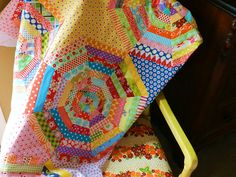 "String quilts are my fave! I love how the ""stars"" in this are different fabrics. Need to try this next time."
