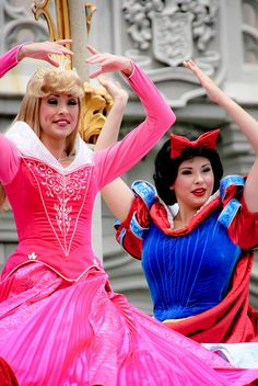 Aurora from Sleeping Beauty and Snow White from Snow White & the Seven Dwarves