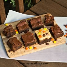 Reeses Peanut Butter Brownies by Tastes of Lizzy T's