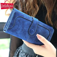 BVLRIGA nubukleder brieftasche frauen luxus marke geldbörse tasche weiblichen handtasche Handtaschen dollar preis lange geldbörsen carteira
