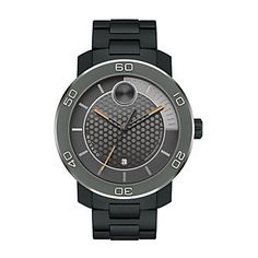 #Movado BOLD Watch with Black and Orange Dial from Borsheims.