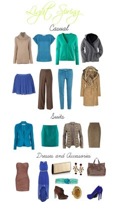 A fashion look from October 2012 featuring True Decadence dresses, H&M cardigans and Vince sweaters. Browse and shop related looks. Light Spring Palette, Spring Color Palette, Spring Colors, Clear Spring, Bright Spring, Warm Spring, Capsule Wardrobe, Seasonal Color Analysis, Fashion Colours