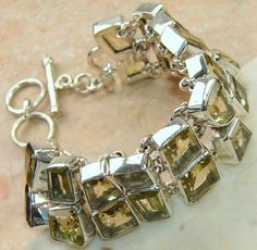 Citrine Faceted  bracelet designed and created by Sizzling Silver. Please visit  www.sizzlingsilver.com. Product code: BR- 7978