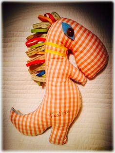 Handmade 'Dino toy for Matilda' by Bronwyn at RubyRua Interiors.. Contact us at bronwynrcb@gmail.com