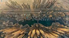 Funny pictures about Dubai From The Sky. Oh, and cool pics about Dubai From The Sky. Also, Dubai From The Sky photos. Marina Bay, Dubai City, Dubai Uae, Dubai Trip, Visit Dubai, Dubai Travel, Oh The Places You'll Go, Places To Travel, Places To Visit
